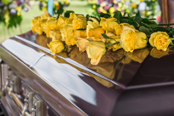 A burial service is usually a short ceremony held after the main funeral service.